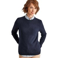 Woolovers  Lambswool Crew Neck Jumper  womens Sweater in Blue