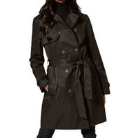Anastasia  Womens Black Trench Raincoat  womens Trench Coat in Black