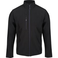 Professional  Honestly Made Recycled Printable Softshell Jacket Black  mens Coat in Black