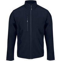 Professional-HONESTLY-MADE-Quickdry-Softshell-Jacket-Seal-Grey-Blue-mens-Coat-in-Blue