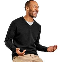 Woolovers  Lambswool V Neck Knitted Sweater  mens Sweater in Black
