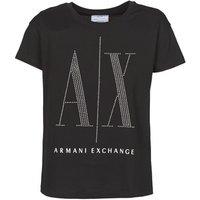 Armani Exchange  8NYTDX  women's T shirt in Black