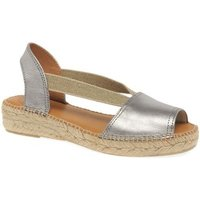 Toni Pons  Etna Womens Casual Platform Wedge Espadrilles  womens Sandals in Silver