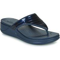 Crocs  CROCSMONTEREYMETALLICSTPWGFPW  women's Flip flops / Sandals (Shoes) in Blue