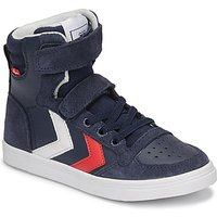 Hummel  SLIMMER STADIL HIGH JR  boyss Childrens Shoes (High-top Trainers) in Blue