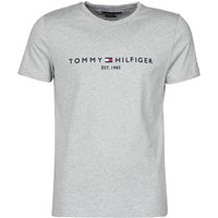 Tommy Hilfiger  TOMMY LOGO TEE  men's T shirt in Grey
