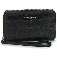 LANCASTER  EXOTIC CROCO  womens Purse wallet in Black