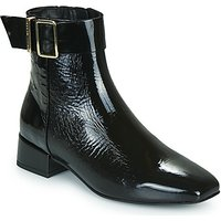 Tommy Hilfiger  PATENT SQUARE TOE MID HEEL BOOT  women's Mid Boots in Black