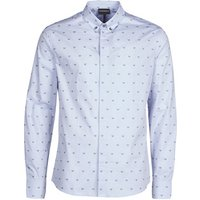 Emporio Armani  6H1C80  men's Long sleeved Shirt in Blue