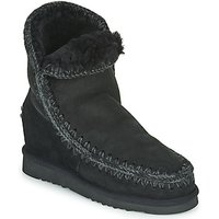 Mou  ESKIMO INNER WEDGE SHORT  womens Mid Boots in Black