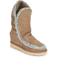 Mou  ESKIMO INNER WEDGE TALL  womens Mid Boots in Beige