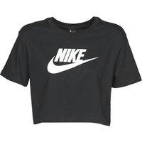 Nike  W NSW TEE ESSNTL CRP ICN FTR  women's T shirt in Black