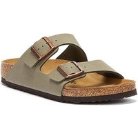 Birkenstock  Arizona Birko Flor Nubuck Stone Sandals  men's Mules / Casual Shoes in Grey