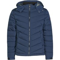 Guess  STRETCH PUFFA HOODED  mens Jacket in Blue