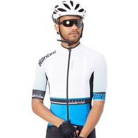 Santini  2017 Photon 3.0 Short Sleeved Cycling Jersey  mens T shirt in White