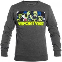 Valentino Rossi  Grey VR46 Life Style Sweater  mens Fleece jacket in Grey