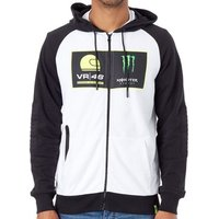 Valentino Rossi  Monster Energy White Dual Academy Zip Hoody  mens Fleece jacket in White
