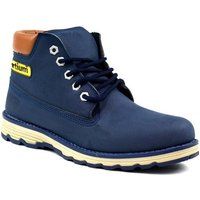 Bartium  Low Top Lace Up Boot  mens Mid Boots in Blue