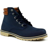 Bartium  High Top Lace Up Boot  mens Mid Boots in Blue