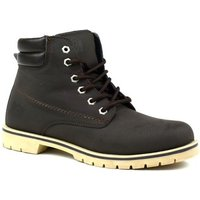 Bartium  High Top Lace Up Boot  mens Mid Boots in Brown