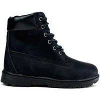 Ucan  Womens Lace Up Ankle Boot  womens Low Ankle Boots in Black