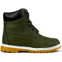 Ucan  Womens Lace Up Ankle Boot  womens Low Ankle Boots in Green