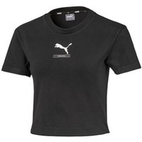 Puma  Nutility Fitted Tee  womens T shirt in Black