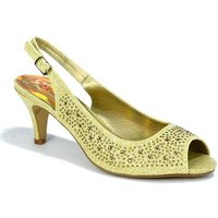 Strictly  Womens Kitten Heel Slingback Evening Sandal  womens Sandals in Gold
