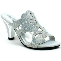Stictly  Rose for Your Feet Elegant Evening Heel  womens Court Shoes in Silver