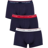 Tommy Hilfiger  3 Pack Premium Essentials Low Rise Trunks  men's Boxer shorts in Blue