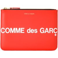 Comme Des Garcons  Huge Logo sachet in red leather  womens Purse wallet in Red