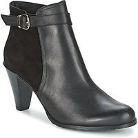 So Size  MOSEKA  women's Low Ankle Boots in Black