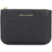 Comme Des Garcons  Bustina  Intersection in pelle nera  womens Purse wallet in Black