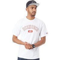 DC Shoes  White Arch T-Shirt  men's T shirt in White