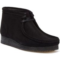 Clarks  Wallabee Suede Mens Black Boots  mens Mid Boots in Black