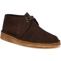 Clarks  Desert Trek Suede Mens Dark Brown Shoes  mens Mid Boots in Brown