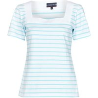Armor Lux  MARINIERE ENCOLURE CARREE  women's T shirt in White