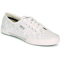 Pepe jeans  ABERLADY LACE  women's Shoes (Trainers) in White