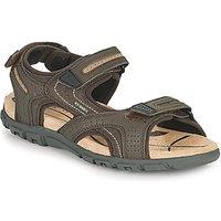 Geox  UOMO SANDAL STRADA D  men's Sandals in Brown