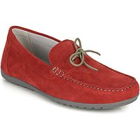Geox  U TIVOLI A  men's Loafers / Casual Shoes in Red