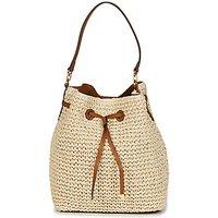 Lauren Ralph Lauren  DEBBY CROCHET STRAW  womens Shoulder Bag in Beige