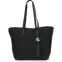 Lauren Ralph Lauren  STRAW TOTE-TOTE-MEDIUM  women's Shoulder Bag in Black