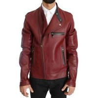 D G  -  mens Leather jacket in multicolour
