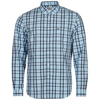 Lacoste  BANNA  men's Long sleeved Shirt in Blue