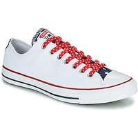 Converse  CHUCK TAYLOR ALL STAR STARS   STRIPES OX  men's Shoes (Trainers) in White