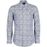 Polo Ralph Lauren  CHEMISE CINTREE SLIM FIT EN POPLINE DE COTON COL BOUTONNE LOGO P  men's Long sleeved Shirt in Blue