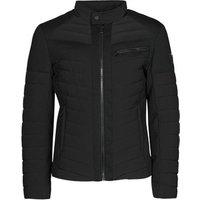 Guess  STRETCH MIXED BIKER  men's Jacket in Black
