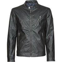 Guess  ECO LEATER VINTAGE BIKER  men's Leather jacket in Black