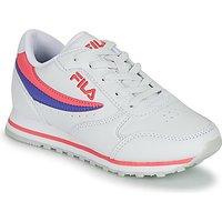 Fila  ORBIT LOW KIDS  girls's Children's Shoes (Trainers) in White