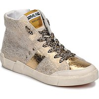 Meline  NK1384  women's Shoes (High-top Trainers) in Gold